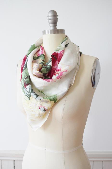 "Vintage ""Sea Rose"" Silk Scarf by Echo by wemcgee"