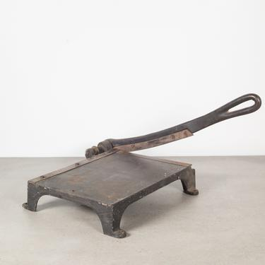 Cast Iron and Brass Guillotine Paper Cutter c.1930