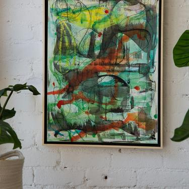 Untitled Abstract Acrylic Painting by Elizabeth Martinez