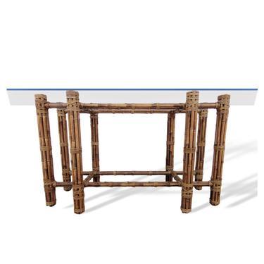 Organic Modern Rectangular Bamboo Dining Table Base by John McGuire by VeronaVintageHome