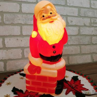 Vintage General Foam Plastics Corp Plastic Blow Mold Christmas Santa by RedsRustyRelics