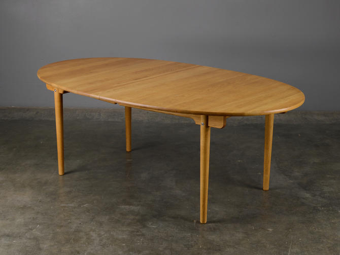 Hans Wegner Oval Dining Table CH338 Solid Oak Danish Modern by MadsenModern