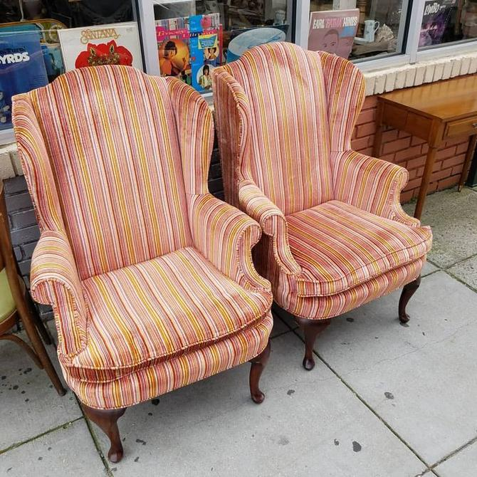 Wing Back Chairs, $147 each.