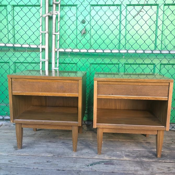 Pair of Mid Century Nightstands with Laminate top