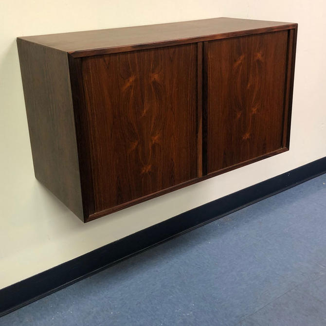 HA-18245 Floating Rosewood HG Tambour Door Cabinet