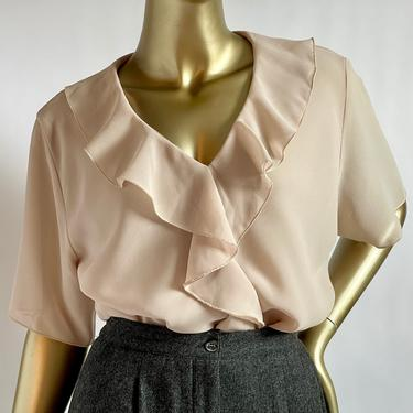 Beautiful Two Layer Semi Sheer Blouse Fits M - XL by BeggarsBanquet