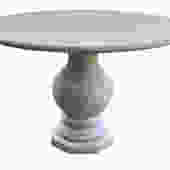Modern French Limestone Circular Table on a Baluster-form Base
