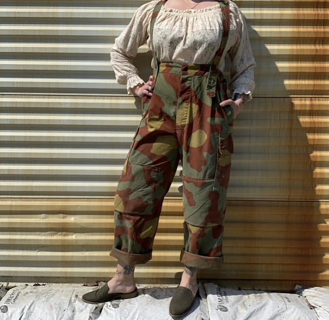 1960s Italian Airborne Camoflauge Overalls by milkandice