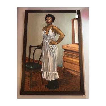 Beautiful Portrait! Oil on Canvas, Artist Unknown