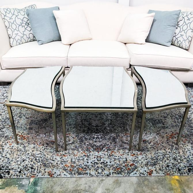 3 Part Mirrored Coffee Table