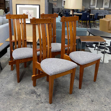 Arts and Crafts Style Cherry Dining Chairs
