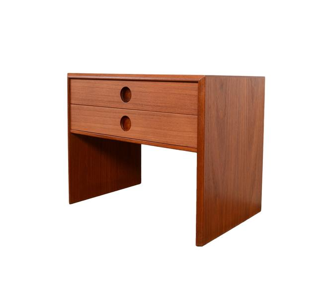 Teak Nightstand Kai Kristiansen Side Table Danish Modern by HearthsideHome