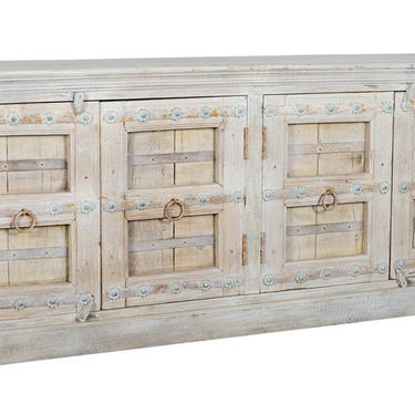 Reclaimed Wood Large Sideboard Cabinet with Vintage Ironwork by Terra Nova Furniture Los Angeles by TerraNovaLA