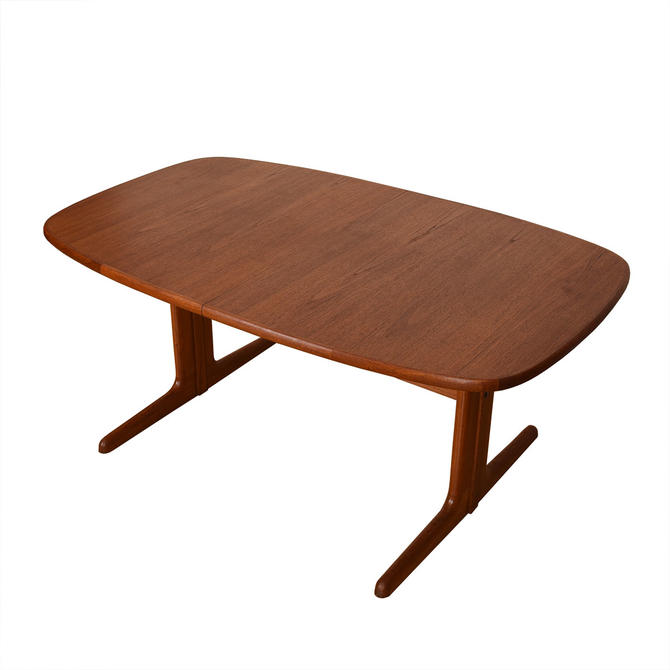 Danish Teak Expanding Rounded Square Dining Table