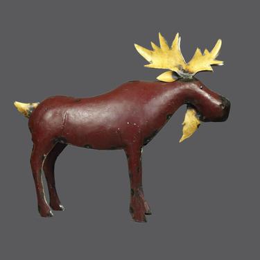 Vintage Moose Metal Sculpture Sheet Metal Sculpture Brutalist Art Welded  Repurposed by VintageInquisitor