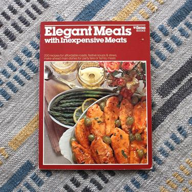 Vintage 1970s Elegant Meals with Inexpensive Meats Cookbook -  Meat Recipes Food Photography Softcover Cookbook by SecondShiftVintage