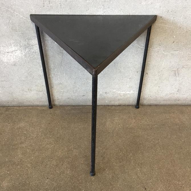 Mid Century Frederick Weinberg Triangular Accent Table