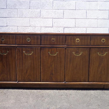 Drexel Accolade Campaign Dresser Chest Drawers Bureau Buffet Sideboard  Console Chinoiserie Brass Storage Regency Boho CUSTOM PAINT AVAILABLE by