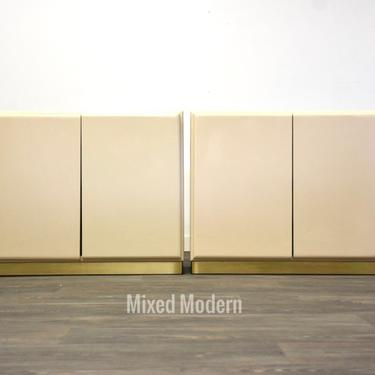 Vintage Ivory Thayer Coggin Cabinets Designed by Milo Baughman by mixedmodern1