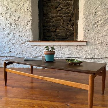 Mid century coffee table Danish modern coffee table mid century modern occasional table by VintaDelphia
