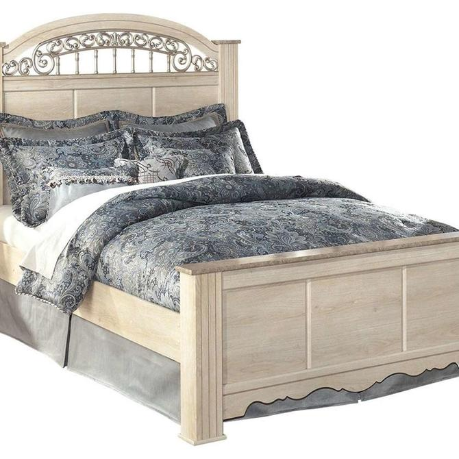Ashley Furniture Catalina Antique White Footboard Queen