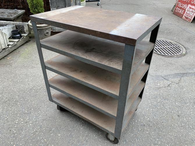 Steel rolling tray cart