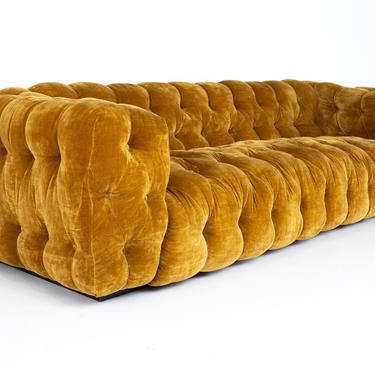 Milo Baughman for Thayer Coggin Mid Century Chesterfield Sofa - mcm by ModernHill