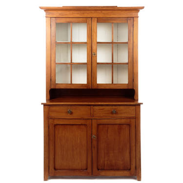 American Maple and Pine Stepback Cupboard