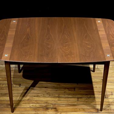 Mid Century Modern American of Martinsville Walnut Dining Table by Merton Gershun - Vintage Danish Scandinavian Style Furniture by MidMod414
