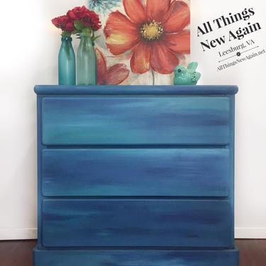Blue Dresser | Blue Kids Dresser | Small Dresser | Small Blue Dresser | Blue Chest of Drawers | Kids Bedroom Furniture by AllThingsNewAgainVA
