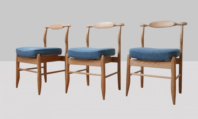 Set of (6) Guillerme & Chambron Dining Chairs