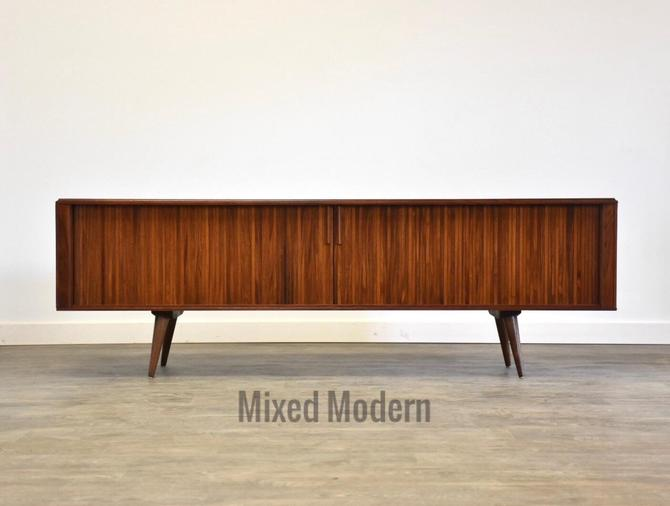 Walnut Record Cabinet Credenza by Barzilay by mixedmodern1