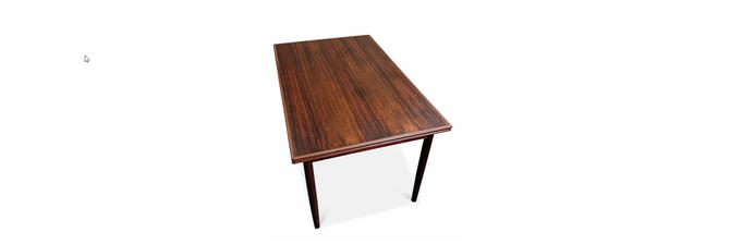 Vintage Danish Mid Century Rosewood Dining Table - Urnehoved by LanobaDesign