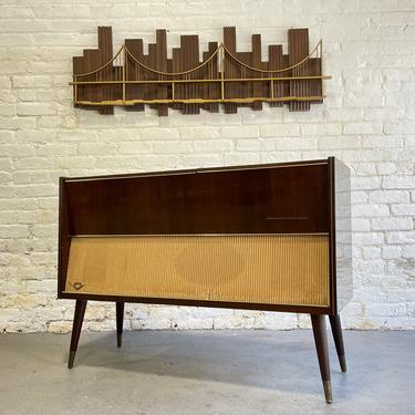 Mid Century Modern GRUNDIG Majestic STEREO Console / turntable, 1950's by CIRCA60