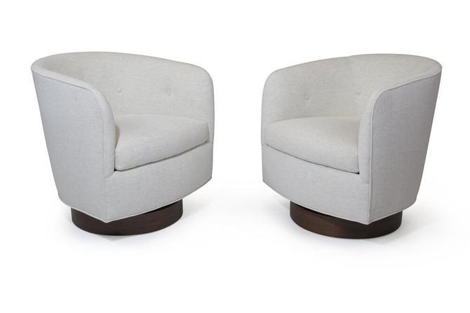 Milo Baughman for Thayer Coggin Swivel Tilt Tub Chair, a Pair