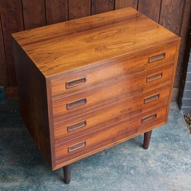 Poul Hundevad Danish Petite Dresser Cabinet Book Matched Brazilian Rosewood Mid-Century Modern Denmark Scandinavian by BrainWashington