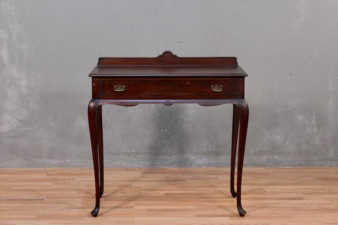 Queen Anne Mahogany 1-Drawer High-Top Desk