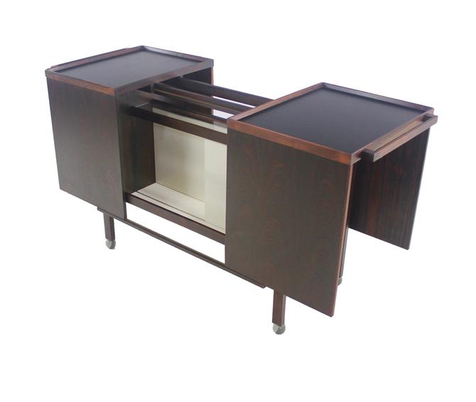 Exceptional Scandinavian Modern Rosewood Bar Cabinet Designed by Nils Erik