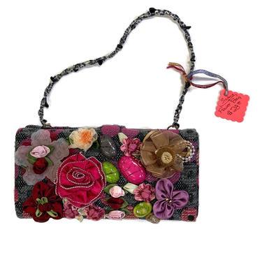 Fabric Flower Shoulder Bag