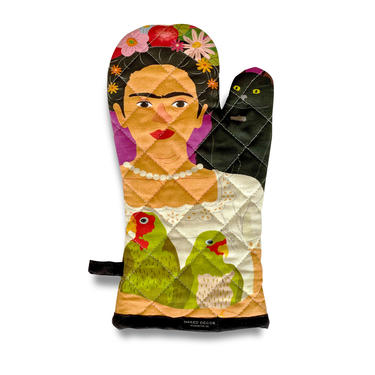 Frida and her Parrots Oven Mitt