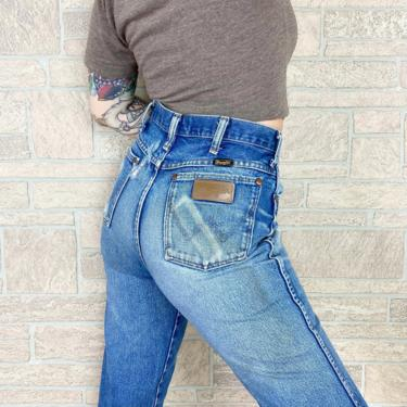 Wrangler Faded and Worn Western Jeans / Size 30 by NoteworthyGarments