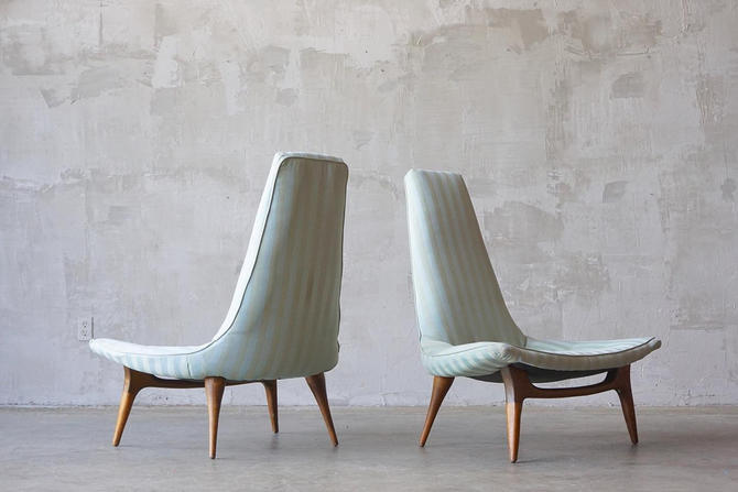 Sculptural Karpen Of California Chairs by FandFVintage