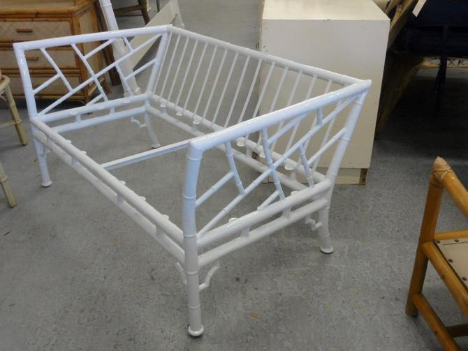 Newly Powdercoated Faux Bamboo Settee