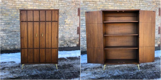 Walnut Double Door Cabinet
