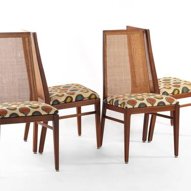 Set of Four (4) Cane Back Dining Chairs by Foster McDavid in Walnut by ABTModern