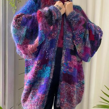 90s Hand Knit Sweater Jacket