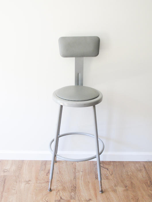 Vintage National Public Seating Industrial Science Lab Chair / Bar Stool by PortlandRevibe