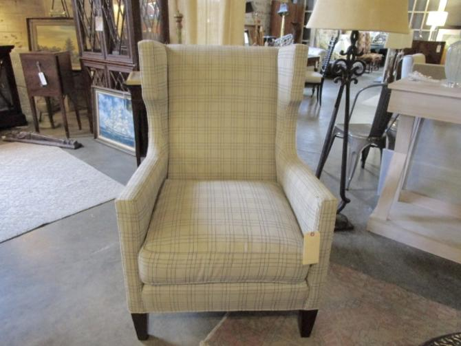 UPHOLSTERED WING CHAIR BY SHERRILL FURNITURE