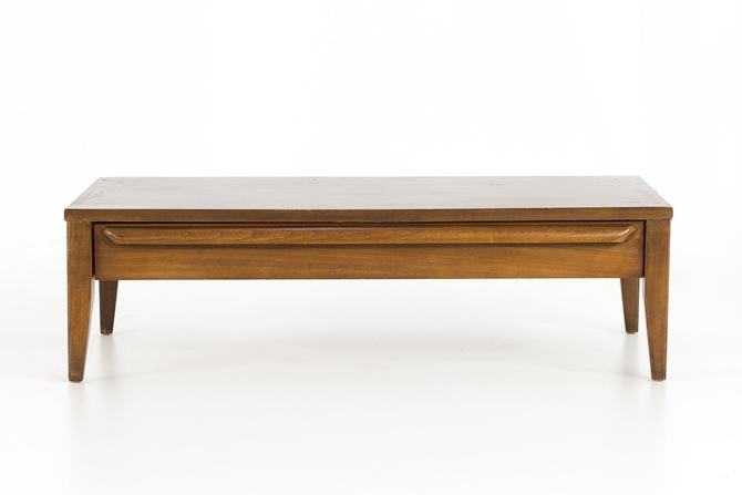 Lane Mid Century Modern Small Low Walnut Coffee Table -mcm by ModernHill