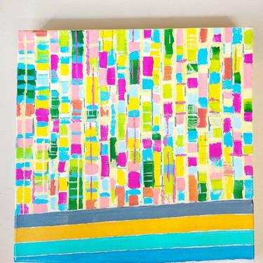 Colorful Abstract Painting Color Saturated by LazyDogAntiqueStore